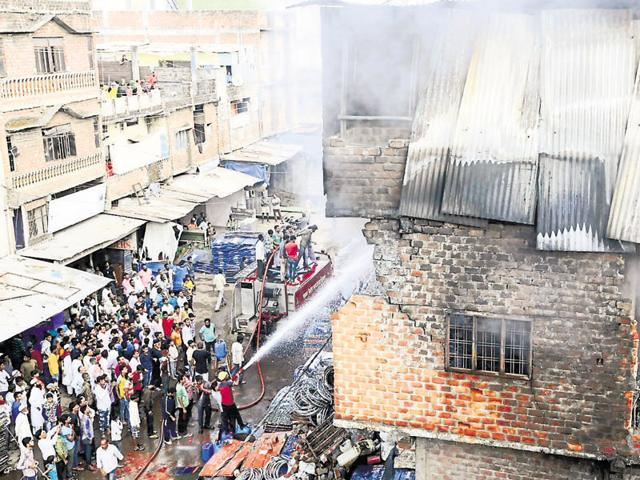 plastic factories gutted
