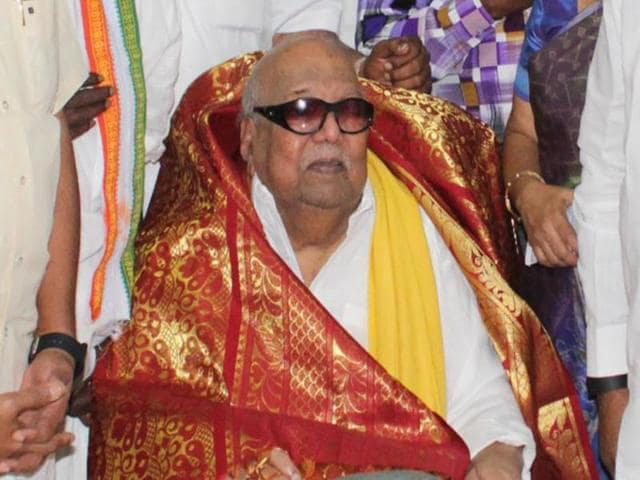 DMK president M Karunanidhi fell ill due to an allergy induced by one of the drugs he is taking.