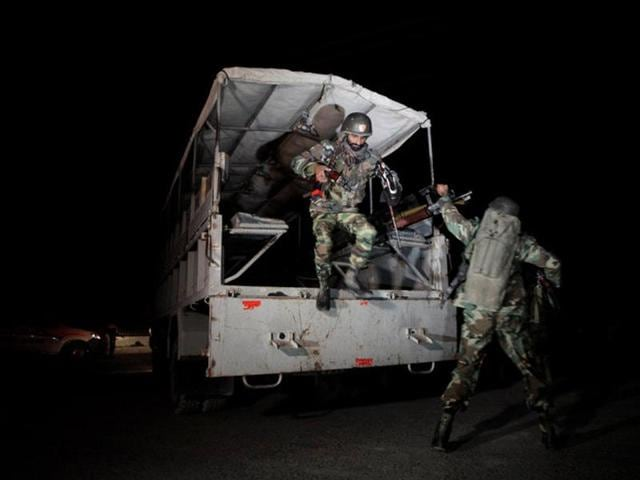 At least 33 trainees were feared killed in an overnight  attack by militants on a police training centre in Quetta in southwest Pakistan.  (Reuters)