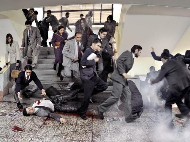 Iranian filmmaker and photographer Azadeh Akhlaghi has taken up staged photography to recreate Iranian assassinations.