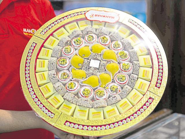 Sweets of Gaggar in Bhopal.