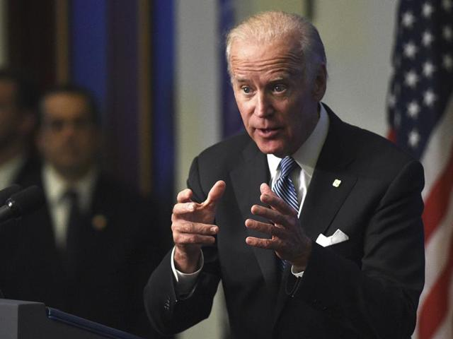 Biden suggested he'd give Trump a trashing if they were in high school(REUTERS FILE)