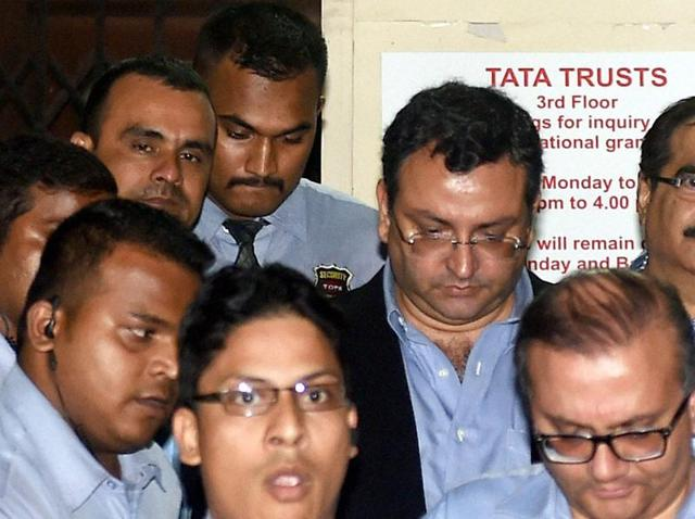 Ousted chairman of Tata Sons, Cyrus Mistry leaves from Bombay House in Mumbai.