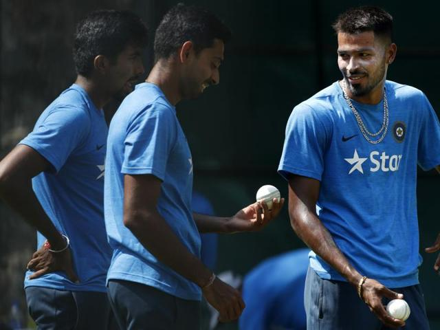 The New Zealand and England ODI series will help India assess Pandya, right, and Bumrah's (left) suitability for next year's Champions Trophy.