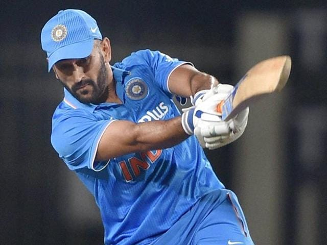 MSDhoni reacts after being dismissed against New Zealand during the 4th One Day International.