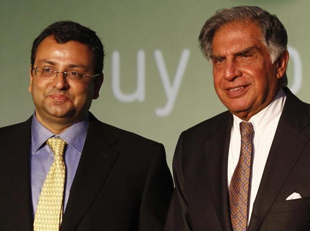 Ratan Tata with Cyrus Mistry.