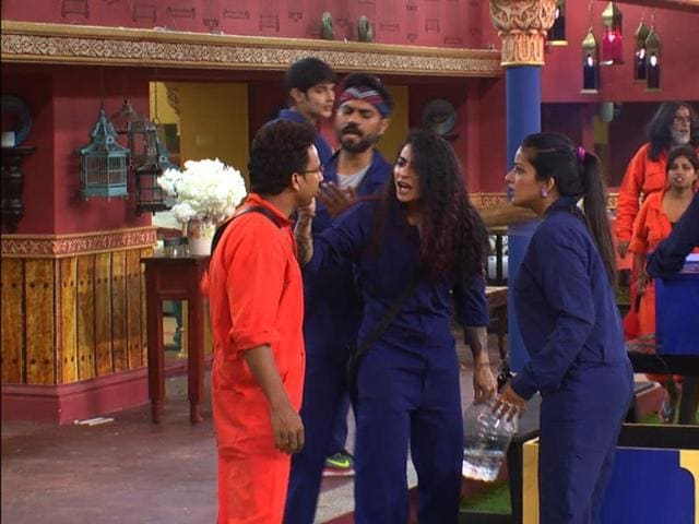 Navin and Bani turn violent during the task on Bigg Bos 10.
