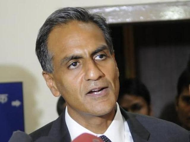US ambassador to India Richard Verma addresses the media at a science centre in Bhopal.