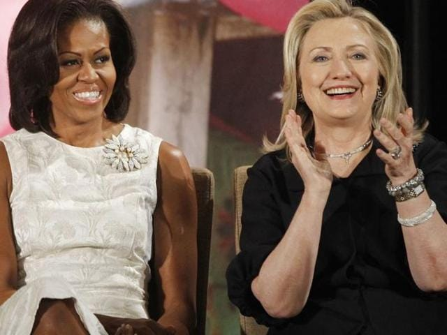Michelle Obama and Hillary Clinton have appeared at countless events together and heaped praised on each other's work, although there's little sign they've spent time one-on-one