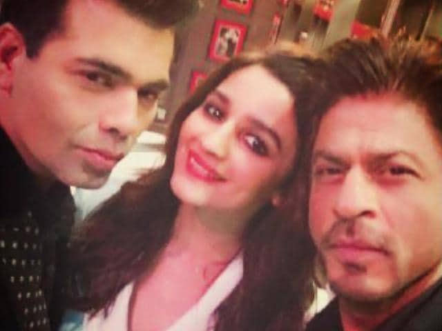 Alia Bhatt and Shah Rukh Khan recently shot for the fifth season's first episode and said the day was full of 'love and happiness.'