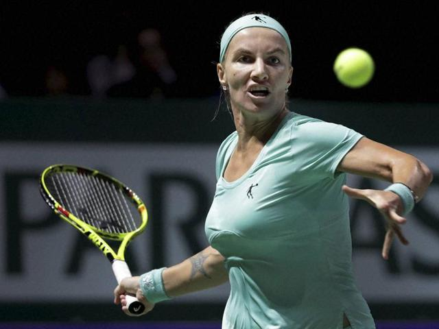 Svetlana Kuznetsova's last-gasp Kremlin Cup win on Saturday saw her leapfrog Britain's Johanna Konta to clinch the last place in Singapore, giving her no time between the two events.(AP)