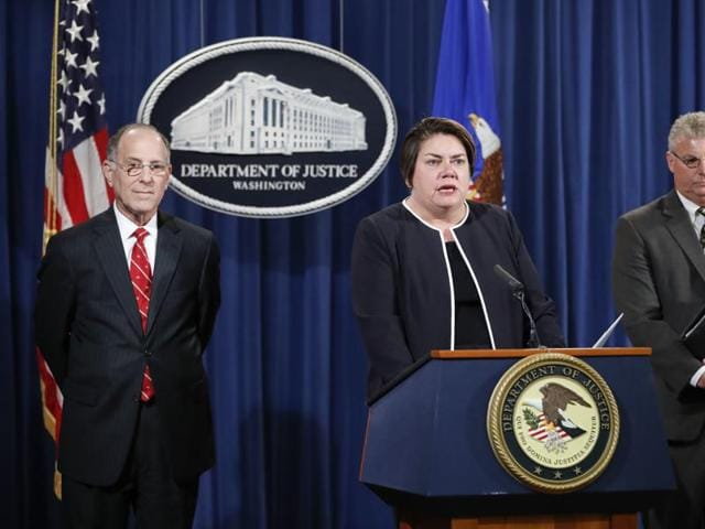 US Justice Department announcing charges in connection with a call centre operation said to be based in India.