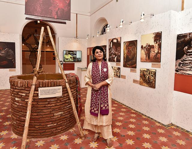 Lady Kishwar Desai at the opening of the Partition Museum in Amritsar on October 24.