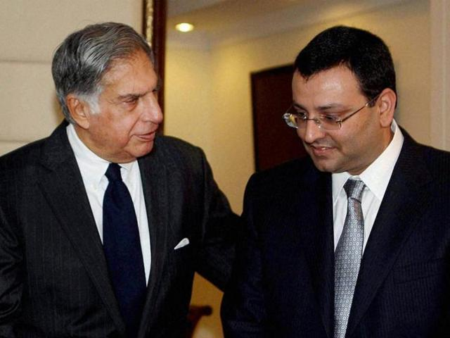 File photo of Ratan Tata (L) with Cyrus Mistry.