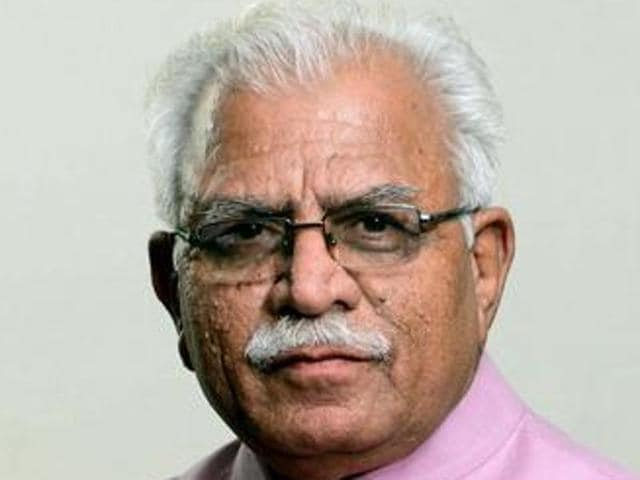 Haryana chief minister Manohar Lal Khattar.(HT File Photo)