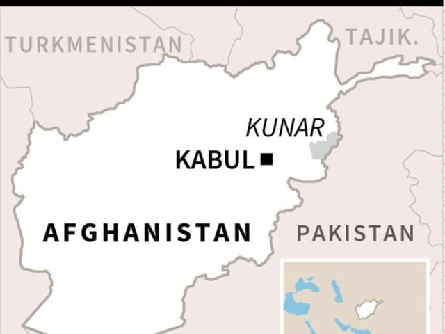 Map of Afghanistan locating the province of Kunar, where US drone strikes on Sunday targeted two top Al-Qaeda leaders, American officials said.