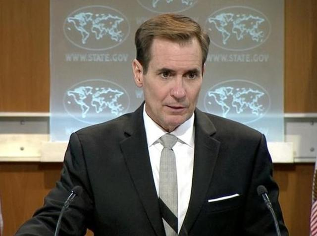 A file photo of US state department spokesman John Kirby  during a press briefing in Washington DC, US.