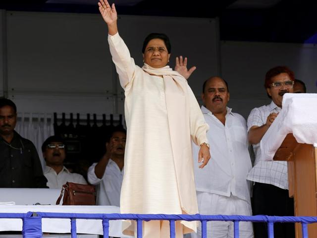 File photo of  Bahujan Samaj Party (BSP) chief Mayawati during an election rally in Lucknow.