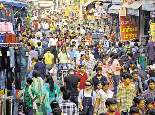 Shoppers throng Sadar Bazaar in Old Gurgaon on the occasion of Dhanteras on Friday. Gold and silver ornaments, utensils, gifts, crackers, clothes and sweets were on most shopping lists.