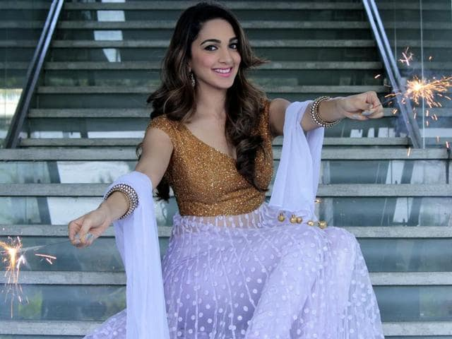 Actor Kiara Advani poses for an exclusive Diwali shoot for HTCity.
