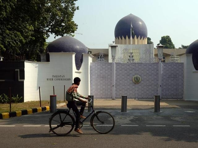Pakistan High Commission, New Delhi. India on Thursday expelled a Pakistan high commission staffer, Mehmood Akhtar, on charges of espionage.(AFP)