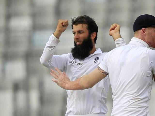 Moeen Ali's 5/57 negated Tamim Iqbal's magnificent century, his third in six Tests against England.