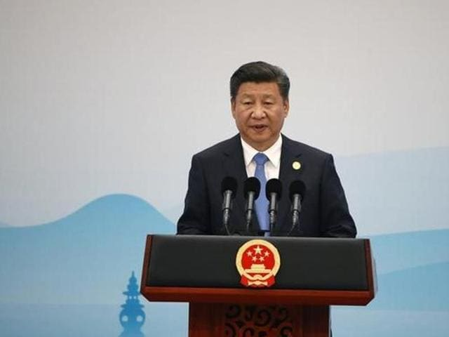 China's President Xi Jinping at a news conference after the closing of G20 Summit in Hangzhou, Zhejiang Province.