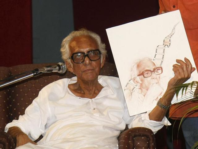 Mrinal Sen at a city function organised to celebrate his ninetieth birthday.