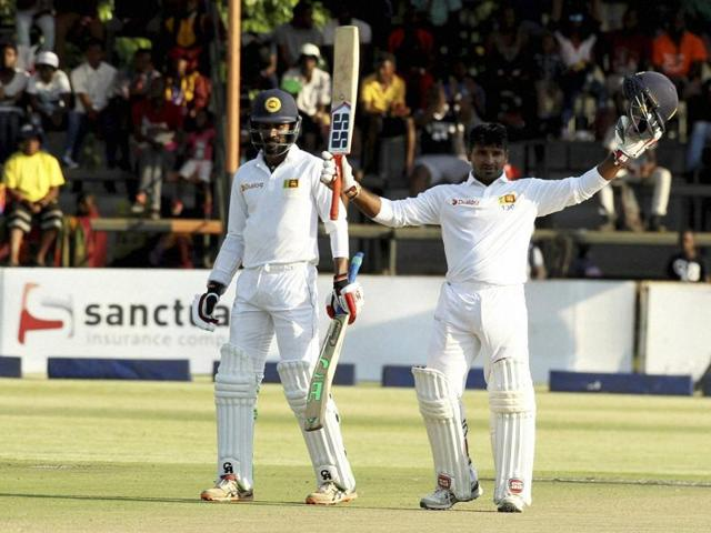 Kusal Perera's century helped Sri Lanka get to a strong position on day one of the first Test against Zimbabwe.