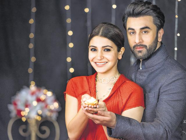 """Anushka Sharma feels Diwali is a time to celebrate with your family, since everybody is together; while Ranbir Kapoor says Diwali is a personal festival as """"you celebrate it with your family and friends."""""""