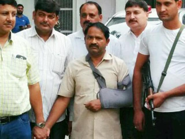 Farhat, (center) the PA of SP's Rajya Sabha MP Munawwar Saleem, was detained Friday night and was later arrested by Delhi Crime Branch on Saturday in connection with the Pak espionage racket.