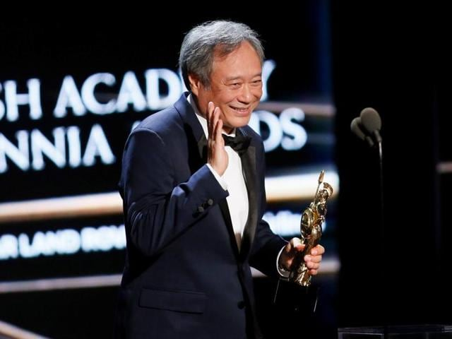 Director Ang Lee accepts the John Schlesinger Britannia Award for Excellence in Directing at the British Academy of Film and Television Arts (BAFTA) Los Angeles' Britannia Awards in Beverly Hills.