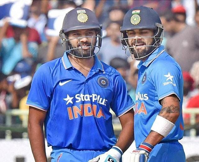 Virat Kohli smashed 65 while Rohit Sharma overcame his poor form with a knock of 70.