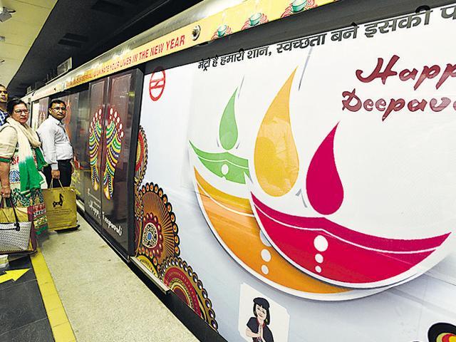 delhi metro,diwali,DMRC