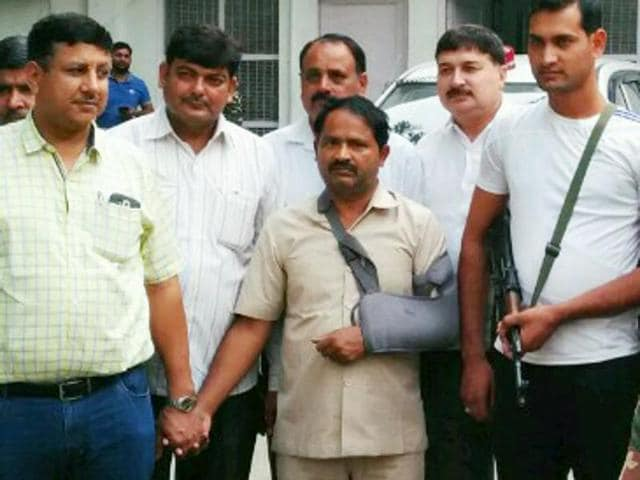 Farhat, (center) the PA of SP's Rajya Sabha MP Munawwar Saleem, was detained Friday night and was later arrested by Delhi Crime Branch on Saturday in connection with the espionage case in which a Pakistan High Commission staffer was expelled from the country and three persons were arrested.