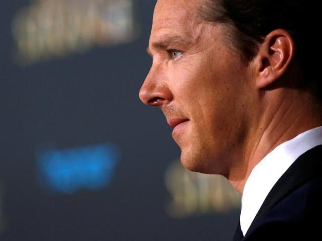 Benedict Cumberbatch at the premiere of Doctor Strange in Hollywood, California, on October 20.(Reuters)