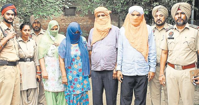 Four arrested,Ludhiana,extortion