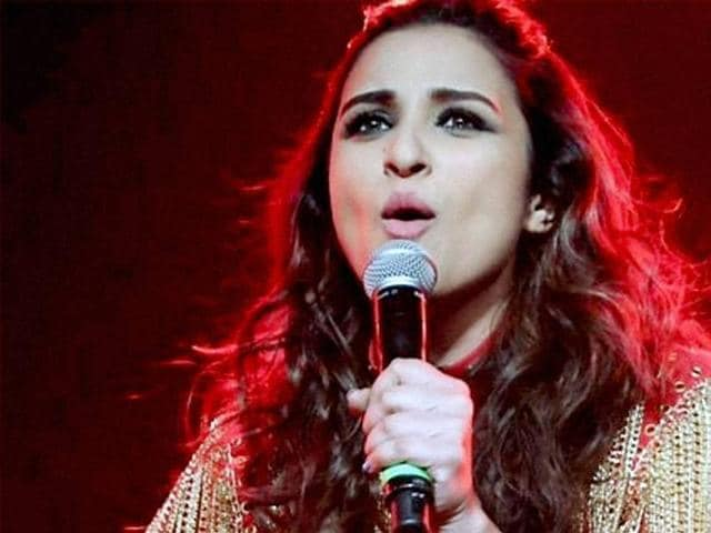 Parineeti Chopra performs at an event to spread Bollywood fever in Houston, US.(PTI)