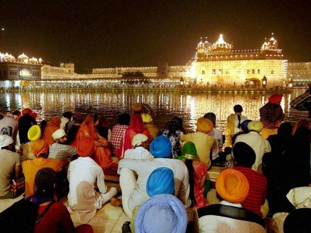 The Golden Temple, the holiest Sikh shrine, in Amritsar glittered with lights and traditional 'diyas'. It witnessed a huge rush of devotees who took a dip in its holy tank and offered prayers at the sanctum sanctorum.