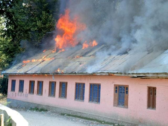 Jammu and Kashmir,J-K,schools being burnt in Kashmir
