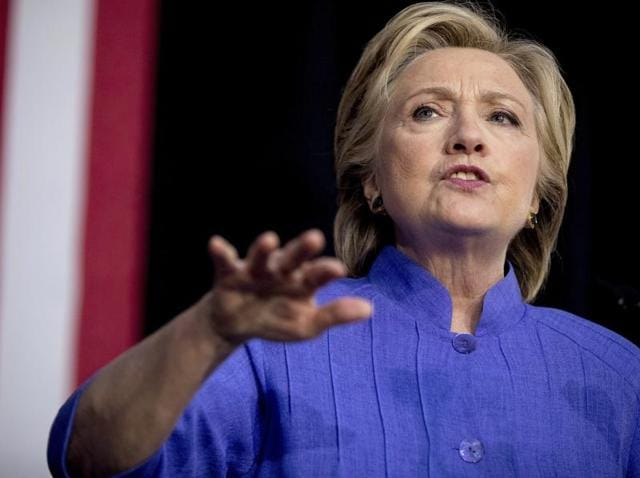 An ABC News/Washington Post poll put the Democratic presidential candidate Hillary Clinton just one point ahead of her Republican challenger Donald Trump at 46-45% in a four-way race.(AP)