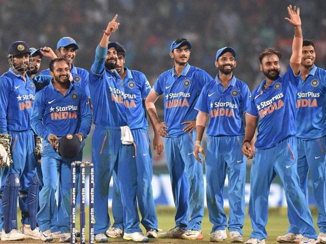 One of MS Dhoni's masterstroke in the series was using Kedar Jadhav (left) as the mystery spinner, while the way he used Hardik Pandya and Amit Mishra kept New Zealand batsmen unsettled.