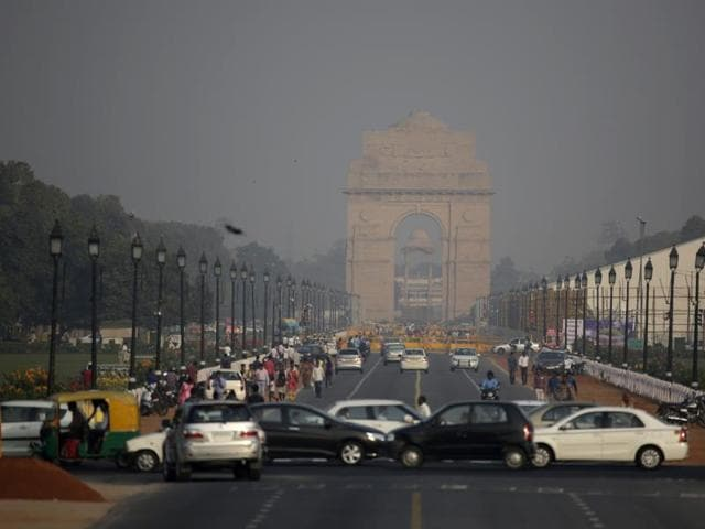 A blanket of haze enveloped Delhi on Monday morning, with data suggesting air pollution has reached an alarming level.