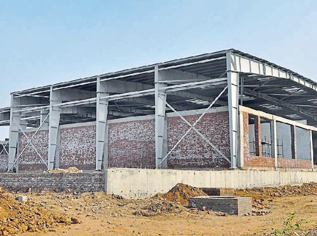 The sports complex under construction in ward 26.