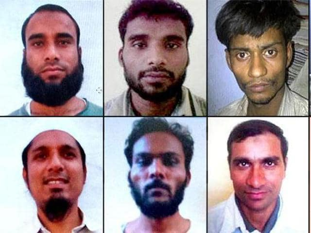 The eight suspected SIMIoperatives who escaped from prision and were killed in an encounter on Monday.