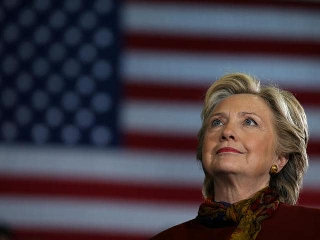 US Democratic presidential nominee Hillary Clinton attends a campaign rally in Pittsburgh.