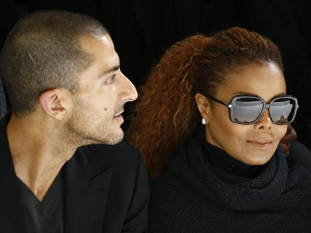Artist Janet Jackson (right) and her husband Wissam Al Mana (left) attend the Hermes Spring/Summer 2016 women's ready-to-wear collection show in Paris, France in October.