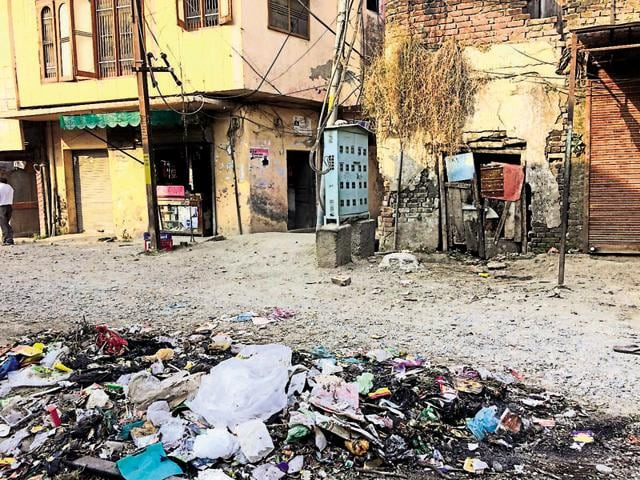 Heaps of garbage dot every nook and corner of Pathankot after Diwali.
