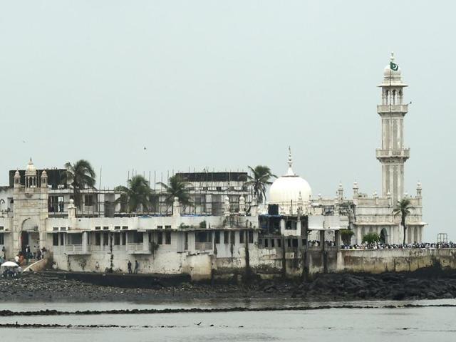 Muslims and visitors inside the Haji Ali Dargah in Mumbai in December 2015.