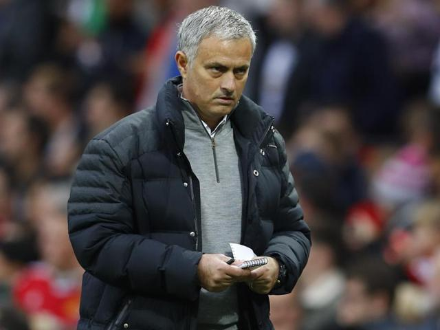 Manchester United manager Jose Mourinho during his team's Premier League match.